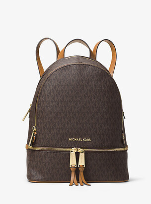 MICHAEL Michael Kors MK Rhea Medium Logo Backpack - Vanilla - Michael Kors
