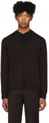 Ermenegildo Zegna Brown Fine Wool Cardigan
