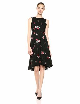 Calvin Klein Women's Sleeveless A-Line Dress with High Low Hem