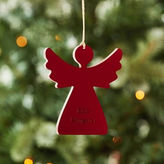 Pottery Barn Teen Angel Carved Wood Ornament