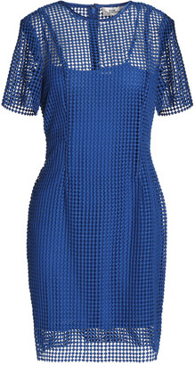 Diane von Furstenberg Satin-trimmed Guipure Lace Mini Dress