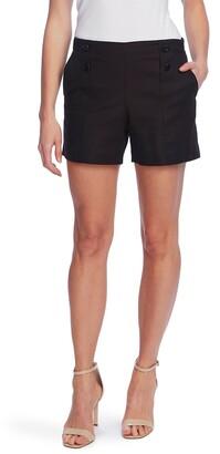 Vince Camuto Doubleweave Button Shorts