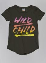 Junk Food Clothing Toddler Girls Wild Child Tee-black Wash-2t