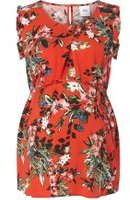 Dorothy Perkins Womens **Mamalicious Red Floral Maternity Blouse- Red