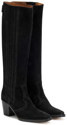 Ganni Western knee-high suede boots