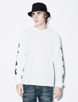 Perks And Mini White Anubian L/S Hooded T-Shirt