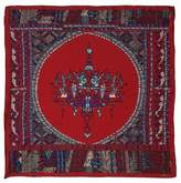 Astrid Sarkissian Chandelier red large square silk scarf