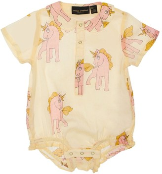 Mini Rodini Unicorn Print Organic Cotton Bodysuit