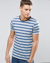 Esprit Striped Contrast Neckline T-Shirt