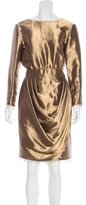 Chanel Paris-Bombay Embellished Metallic Dress