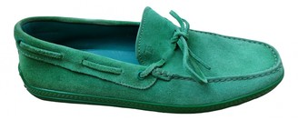 Tod's Green Suede Flats