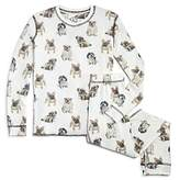 PJ Salvage Girls' Dog-Print Pajama Set - Little Kid