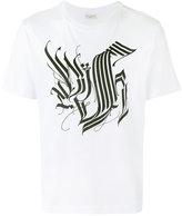 Dries Van Noten short sleeve T-shirt with tattoo calligraphy detail