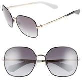 Kate Spade Women's 'Carlisa' 59Mm Sunglasses - Black/ Gold