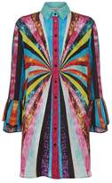Mary Katrantzou Hawk Sequin Print Dress