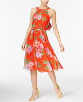 INC International Concepts Petite Floral-Print Halter Dress, Only at Macy's