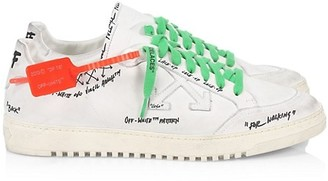 Off-White 2.0 Leather Low-Top Sneakers