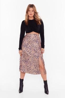 Nasty Gal Womens Into the Wild Plus Leopard Skirt - Metallics - 16