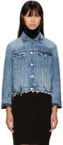 Helmut Lang Blue Denim Shrunken Tacked Jacket