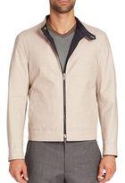 Giorgio Armani Reversible Cashmere-Blend Zip-Front Jacket