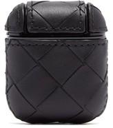 Thumbnail for your product : Bottega Veneta Intrecciato Leather Airpods Case - Black