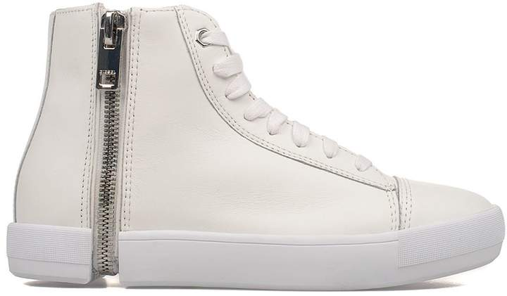 Diesel White Nentish Leather High-top Sneakers