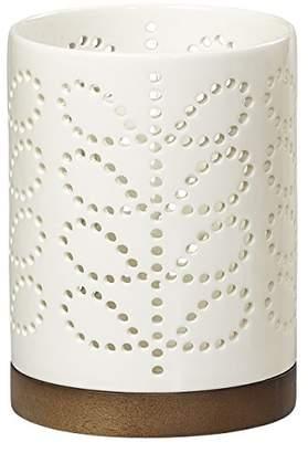 Orla Kiely Linear Stem Medium Ceramic Lantern | Cream