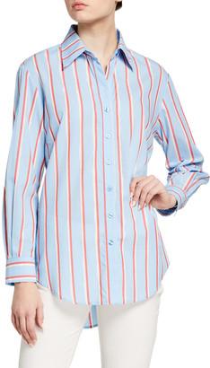 Finley Monica Sparkle Stripe Button-Down Shirt