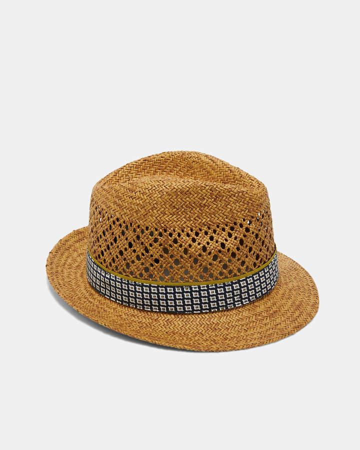 d64697e2c HARLOW Straw trilby hat