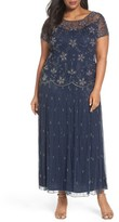Pisarro Nights Plus Size Women's Embellished Long Dress