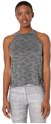 New Balance Q Speed Jacquard Tank (Heather Charcoal) Women's Clothing