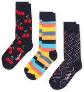 Happy Socks Cherry & Stripes Socks (3 PK)
