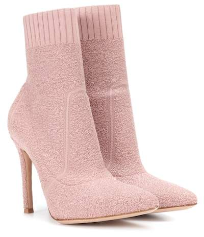 Gianvito Rossi Fiona 105 bouclé ankle boots