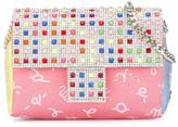 Simonetta embellished patterned shoulder bag