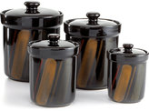 Sango Avanti Black Set of 4 Canisters