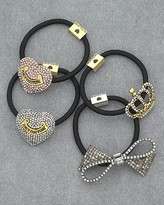 Pave Heart Ponytail Holder