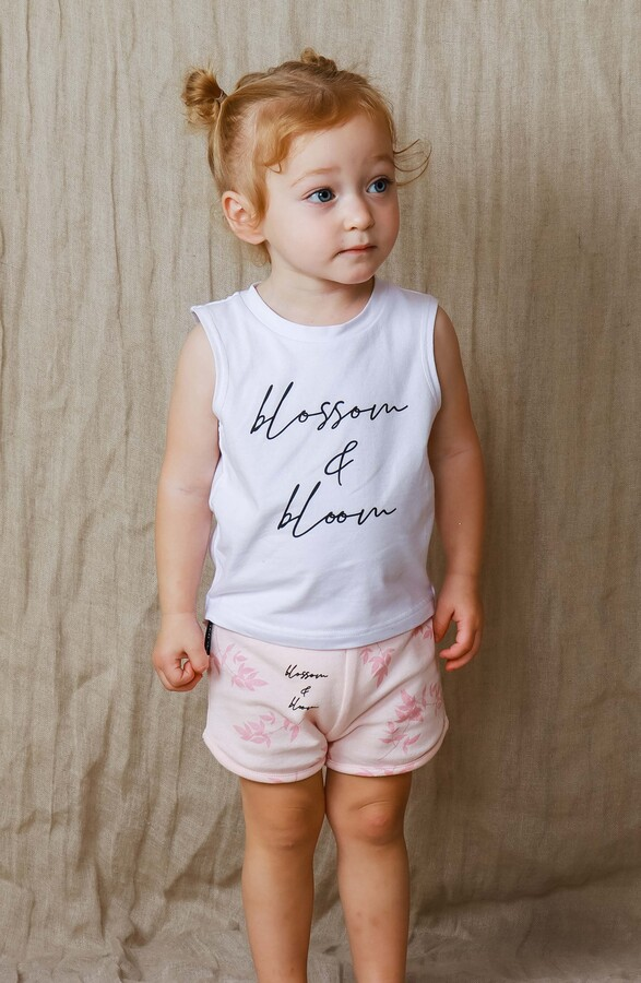 Thumbnail for your product : TINY TRIBE Blossom & Bloom Tank & French Terry Shorts Set