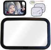 Tofern Baby Car Mirror Rear Seat Headrest Safety Rear Facing Child View Mirror With Window Shades