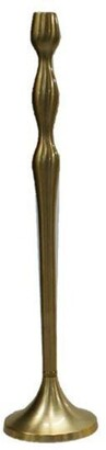 "Elégance Brushed Gold Candle Holder - 20""A"