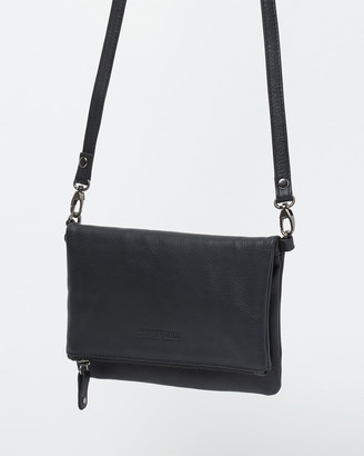 Stitch & Hide - Women's Black Leather bags - Piper Clutch Bag - Size One Size at The Iconic