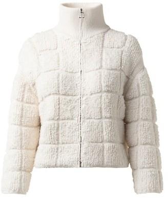 Akris Cashmere Silk Boucle Boxy Jacket