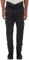 Faith Connexion Men's Cotton Foldover-Waist Cargo Pants-BLACK