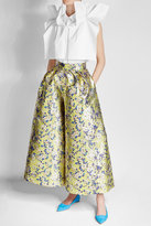 DELPOZO Printed Wide Leg Pants with Silk