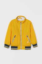 H&M Jersey-lined Nylon Jacket - Yellow