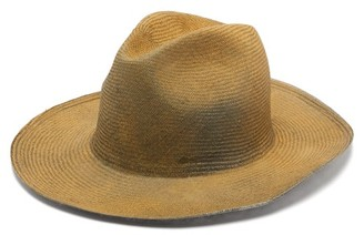 Bonica Reinhard Plank Hats Painted Straw Hat - Womens - Beige Multi