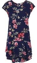 Joie Coreen Floral-print Silk Crepe De Chine Mini Dress
