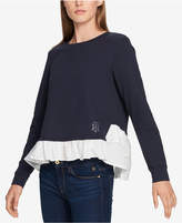 Tommy Hilfiger Layered Ruffle-Hem Top, Created For Macy's