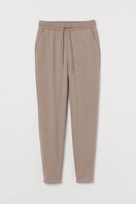H&M High Waist Sweatpants - Brown