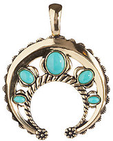 American West Turquoise and Brass Naja Enhancer