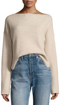 Vince Cashmere Long-Sleeve Boxy Pullover